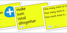 Maths Signs and Vocabulary Posters for Visually Impaired