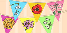 Flower Display Bunting