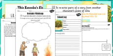 Kensuke's Kingdom: Rewriting Story from Kensuke's Perspective Lesson Teaching Pack