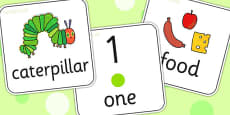 Topic Word Flash Cards to Support Teaching on The Very Hungry Caterpillar