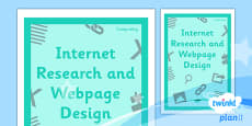 PlanIt - Computing Year 5 - Internet Research and Webpage Design Unit Book Cover