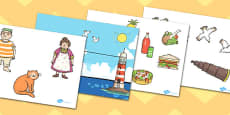 Story Cut Outs to Support Teaching on The Lighthouse Keepers Lunch