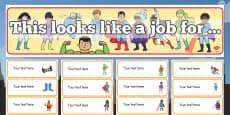 Superhero Classroom Job Pack