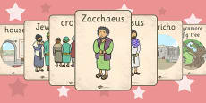 Zacchaeus the Tax Collector Bible Story Display Posters
