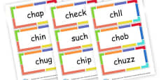 Ch words Cards