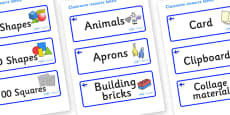 Finland Themed Editable Classroom Resource Labels