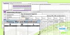 PlanIt - History KS1 - War and Remembrance Unit Assessment Pack