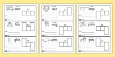 CVC Spelling Cards Pack