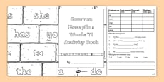 Common Exception Words Y1 Activity Book