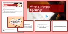 Ten Openings for Writing Prompts Resource Pack