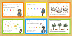 Pirate Themed KS1 Maths Challenge Cards