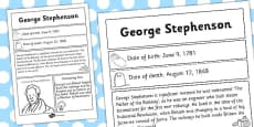 George Stephenson Significant Individual Fact Sheet