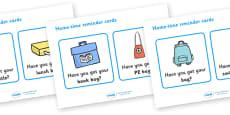 Hometime Reminder Cards