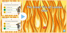 The Great Fire of London Quiz PowerPoint