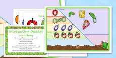 Let's Get Sorting Activity EYFS Interactive Poster and Resource Pack to Support Teaching on The Very Hungry Caterpillar