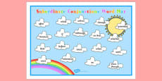 Cloud Themed Subordinate Conjunctions Word Mat
