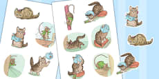 The Story of Miss Moppet Beatrix Potter Story Cut Outs