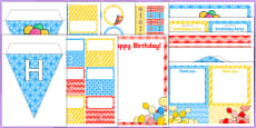 3rd Birthday Party Pack