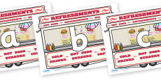 Phoneme Set on Fairground Food Vans