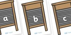 Phase 2 Phonemes on Washing Boards