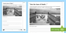 * NEW * D-Day Landings Senses Differentiated Activity Sheet