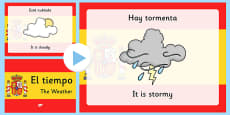 Spanish Weather PowerPoint