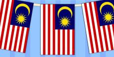 Malaysia Flag Display Bunting