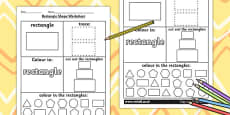 Rectangle Shape Activity Sheet
