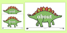 100 High Frequency Words on Dinosaurs