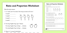 Ratio and Proportion Activity Sheet