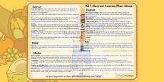 Harvest Lesson Plan Ideas KS1