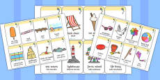 Seaside Flashcards Polish  Translation