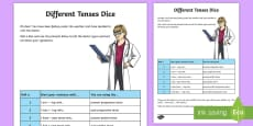 Different Tenses Dice Activity