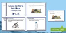 UKS2 Around the World in 80 Days Maths Challenge Cards