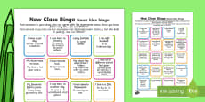 New Class Bingo English / Afrikaans