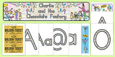 Australia - Display Pack to Support Teaching on Charlie and the Chocolate Factory