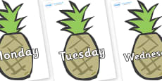 Days of the Week on Pineapples