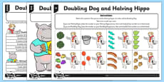 Differentiated Doubling and Halving Activity Sheet