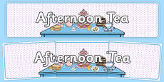 Afternoon Tea Role Play Banner