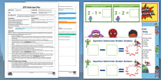 EYFS Superhero Subtraction From 10 Adult Input Plan and Resource Pack