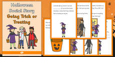 Halloween Social Story Going Trick or Treating