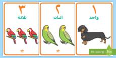ملصقات أعداد حيوانات أليفة من صفر إلى عشرة