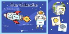 Space Themed Display Calendar