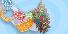 Chinese New Year Paper Chain Craft Dragon - Australia