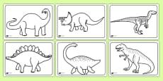 Dinosaurs Colouring Sheets