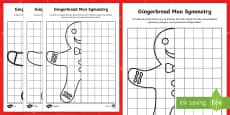Gingerbread Man Symmetry Differentiated Activity Sheets