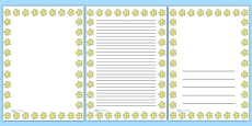 Smiley Star Portrait Page Borders