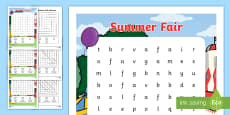 Summer Fair Wordsearch (School Fair)
