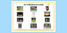 Football German Word Mat