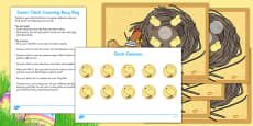 Easter Chick Counting Busy Bag and Resource Pack For Parents